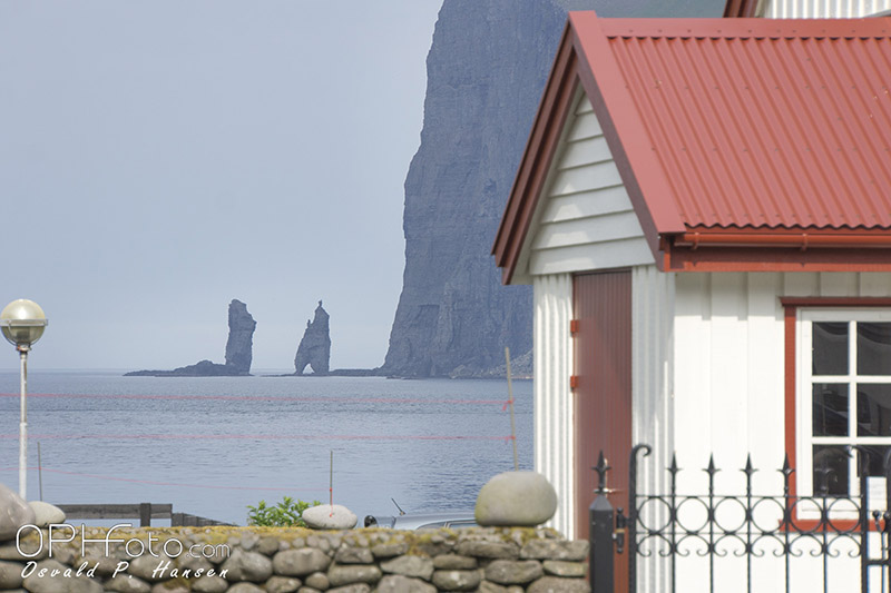 The Giant and the Witch from Tjørnuvík in Faroe Islands
