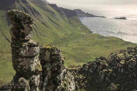 Gásadalur from Árnafjall