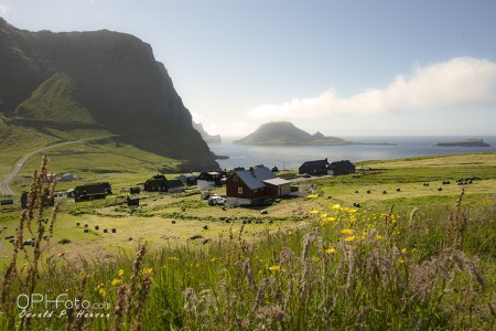 Village Gásadal in Faroe Islands - Vágar