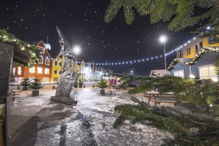 vágsbotn, wintertime, snow, tórshavn, faroe islands
