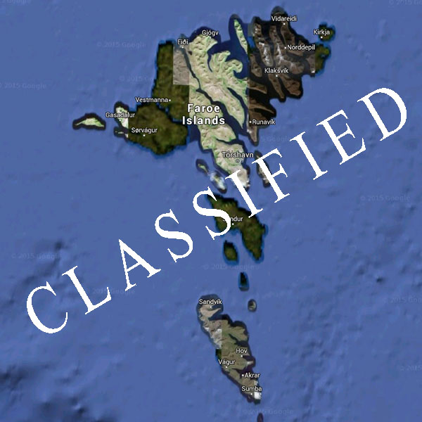 classified, faroe islands, google earth