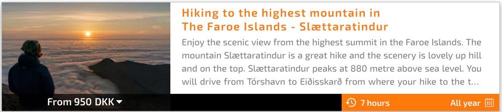 Slættaratindur Faroe Islands